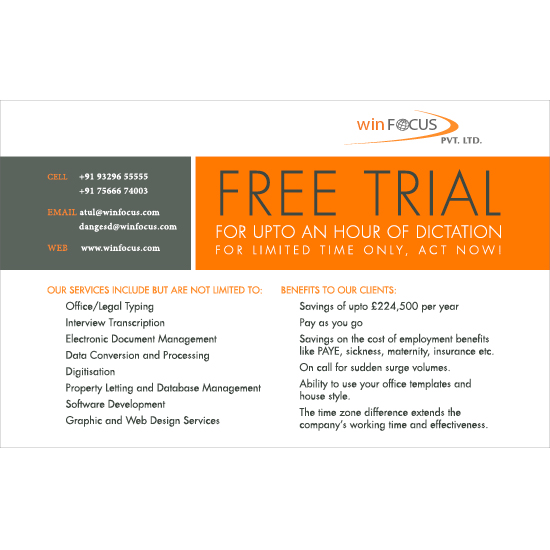 WinFocus Free Trial Offer