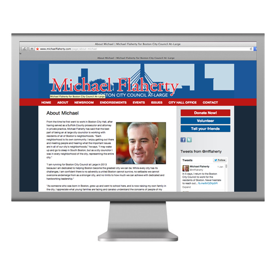 Michael Flaherty Website