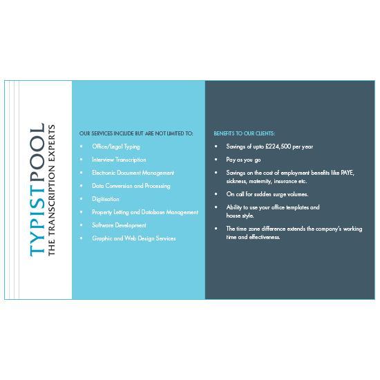 TypistPool Services Postcard